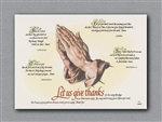 Paper Four Faiths Placemat - 10 in. x 14 in.