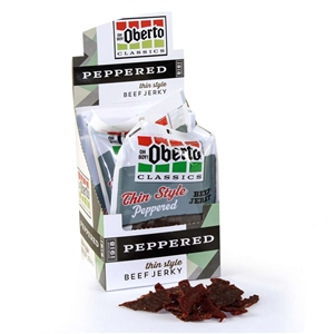 Oberto Jerky Thin Style Peppered Beef - 1.2 Oz.
