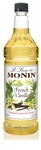 Monin French Vanilla Syrup - 1 Liter
