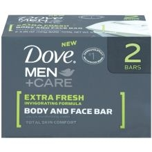 Dove Mens Extra Fresh Bar Soap - 8 oz.