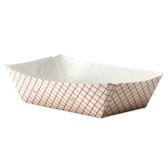 Dixie Plaid Food Tray Red - 5 Lb.