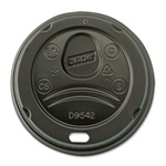 Dixie Dome Perfect Touch Lid Black - 16 Oz.