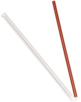 Dixie Wrapped Drinking Straws Red - 10.25 in.