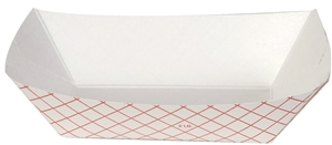 Dixie Plaid Disposable Food Tray Red - 2 Lb.