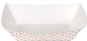 Dixie Plaid Disposable Food Tray Red - 1 Lb.