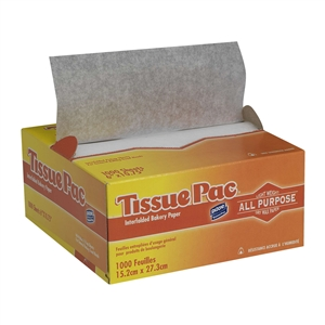 Tissue-Pac Interfolded Handling Tissue White - 6 in. x 10.75 in.