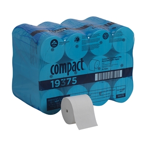 Compact Coreless Bath Tissue High Capacity Small 2 Ply Roll