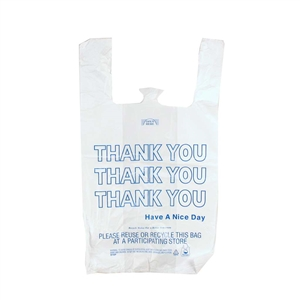 T-Sack Printed Thank You 17 Microns - 13 in. x 8 in. x 23 in.