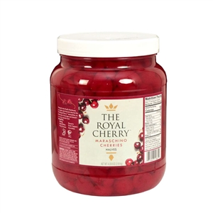 Cherry Large Halves Plastic Premium Grade - 0.5 Gallon