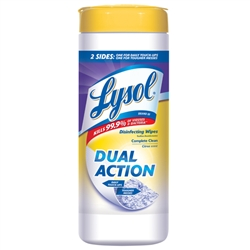Lysol Disinfecting Wipes Dual Action Citrus