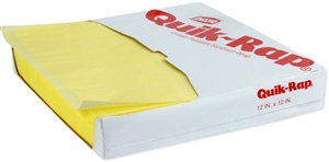 Quik-Rap Grease Resistant Yellow Sandwich Paper - 12 in. x 12 in.