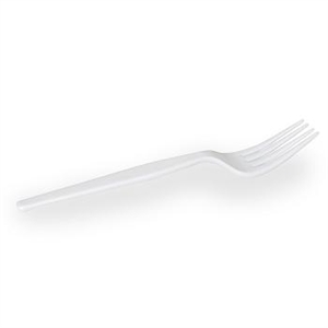 Dixie Heavy Weight Polystyrene Fork White - 7.13 in.