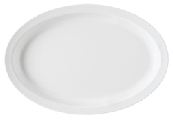 G.E.T. Enterprises White Oval Platter - 11.75 in. x 8..25 in.
