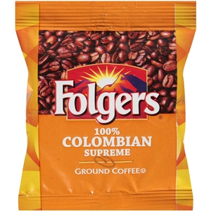 Folgers 100 Percentage Columbian Fraction Pack Coffee - 1.75 Oz.
