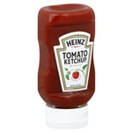 Condiment Ketchup Clear Top Down Bottle - 14 Oz.