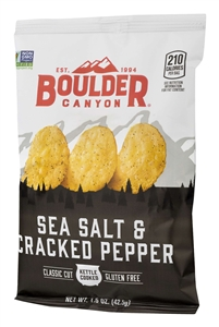 Kettle Chips Sea Salt Cracked Pepper - 1.5 Oz.