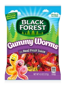 Black Forest Gummy Worms Real Fruit Juice  - 4.5 Oz.