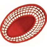 Basket Oval Red - 9.5 in .x 6 in.