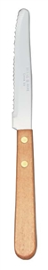 Rounded Tip Wood Handle Steak knife - 8.5 in.