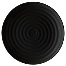 Black Plate Round Milano - 15 in.