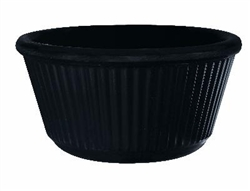 Black Ramekin Fluted - 4 Oz.