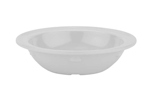 White Supermel Rimmed Bowl Deep - 5 Oz.