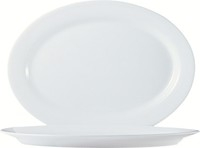 Restaurant Oval Platter White - 11.75 in.