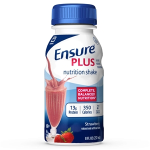 Ensure Plus Strawberry Milk Nutrition Shake - 8 Oz.