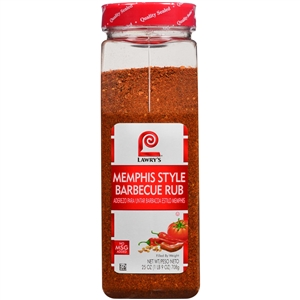 Lawrys Memphis Barbecue Rub - 25 Oz.