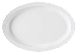 White Supermel Oval Platter - 10 in.x 6.75 in.