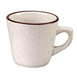 Caravan Brown Speckled Double Band Cup - 11 Oz.