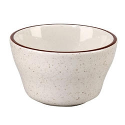 Caravan Bouillon Brown Speckled Double Band Cup - 7.25 Oz.