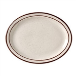 Caravan Brown Speckled Double Band Narrow Rim Platter - 13.25 Oz.