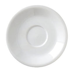 Argyle Saucer White - 6 in.