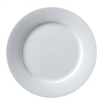 Argyle Rolled Edge Plate White - 7.25 in.