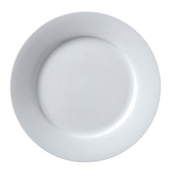 Argyle Rolled Edge Plate White - 12 in.