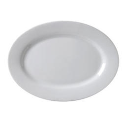 Argyle Rolled Edge Platter White - 9.75 in.