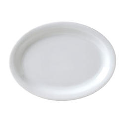 Catalina Narrow Rim Platter White - 9 in.