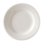 Vista Collection American Rolled Edge Plate White - 12 in.