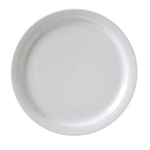 Catalina Narrow Rim Plate White - 9 in.