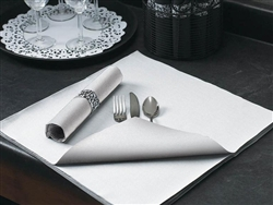 White Flat Pack 3 Ply Fashn Point Napkin