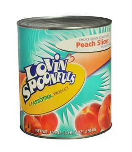 Lovin Spoonfuls Peach Slices Light Syrup - 105 oz.