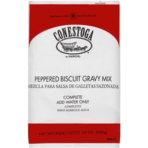 Conestoga Peppered Biscuit Gravy Mix - 24 Oz.