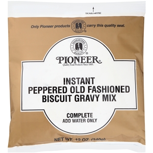 Pioneer Instant Peppered Old Fashioned Biscuit Gravy Mix - 12 Oz.