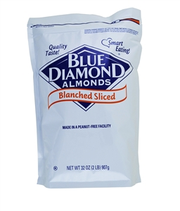 Almonds Blanched Sliced - 8 Lb.