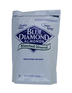 Almonds Slivered Blanched - 8 Lb.