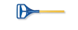Mop Handle Fiberglass Stirrup Yellow Blue
