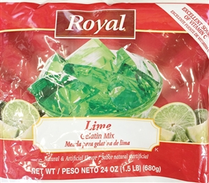 Royal Gelatin Lime - 24 Oz.