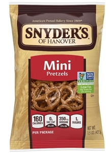 Mini Twist Fat Free Salted Pretzel Single Serve Bag - 1.5 oz.