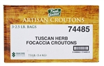 Croutons Focaccia Tuscan Herb - 2.5 Lb.